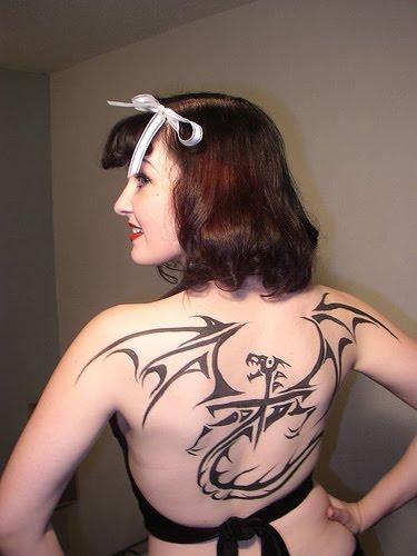 girl tattoo designs dragon