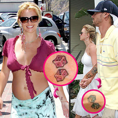 britney spears new tattoo