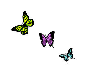 wave tattoo designs on Three Butterfly Tattoo Design by heart on wave
