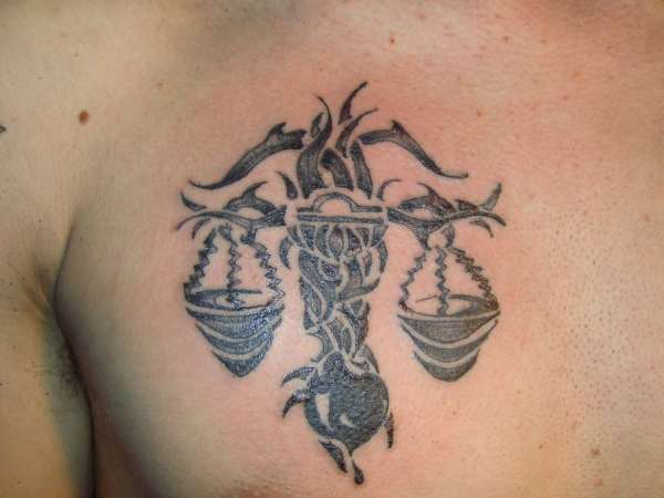 Scorpio Zodiac Tattoo Design On Male Arm. Cool Tribal Tattoos on Back and