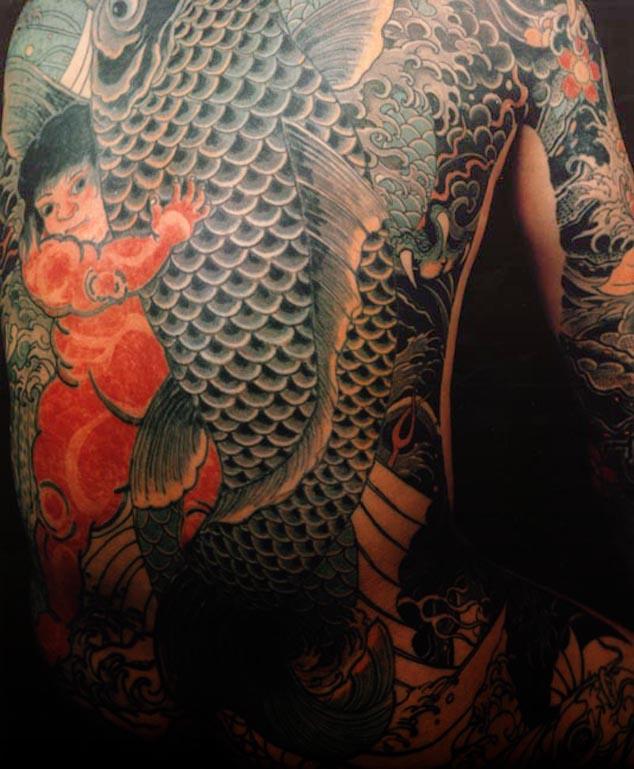 japanese koi fish tattoo designs full body
