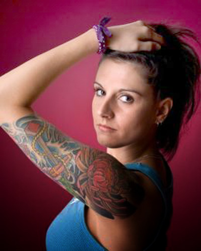Sexy girls with sleeve tattoos