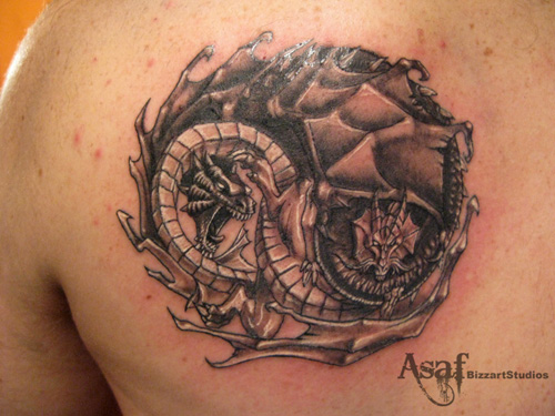 Tattoos Potattoo Dragon Yin Yang Tattoo