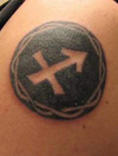 Rank Tattoo Kile Tattoos Of The Sagittarius Symbol