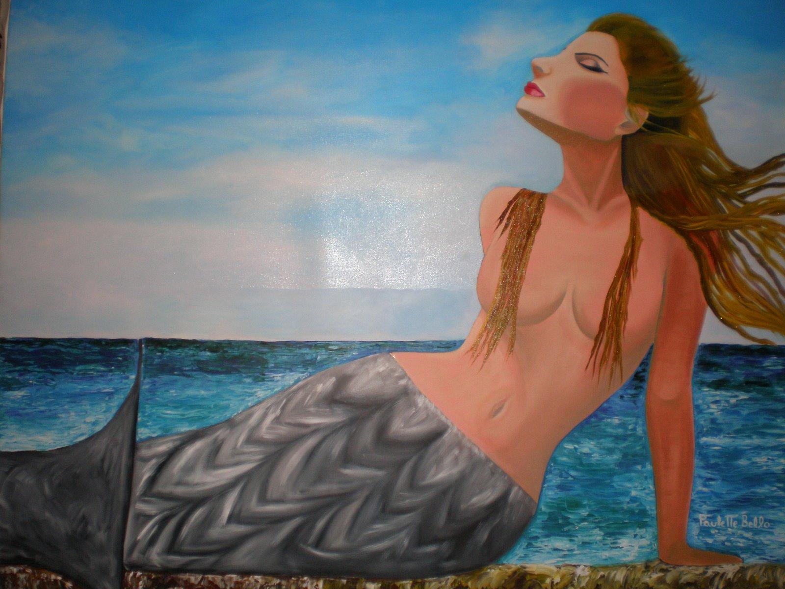 Sirena Dorada, 100 por 130 cm