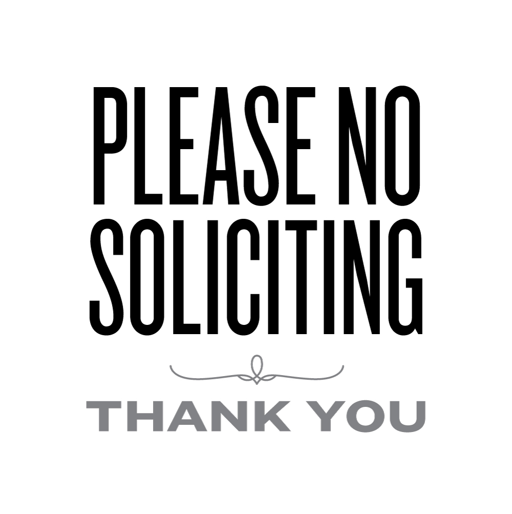 Nifty image inside no soliciting printable