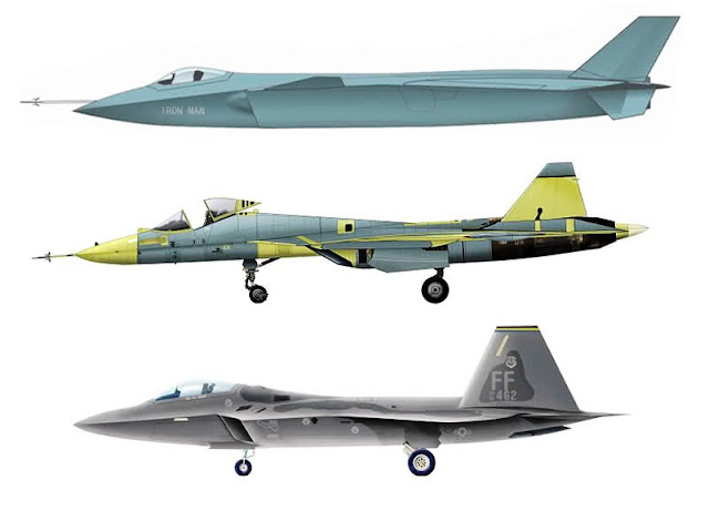 Chinese J-20 USA F-22 And Russia 's PAK-FA Stealth Fighters