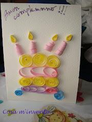 Tutorial: Biglietto con torta di compleanno