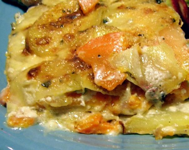 Recipes From Alice's Kitchen: Yukon Gold and Sweet Potato Gratin