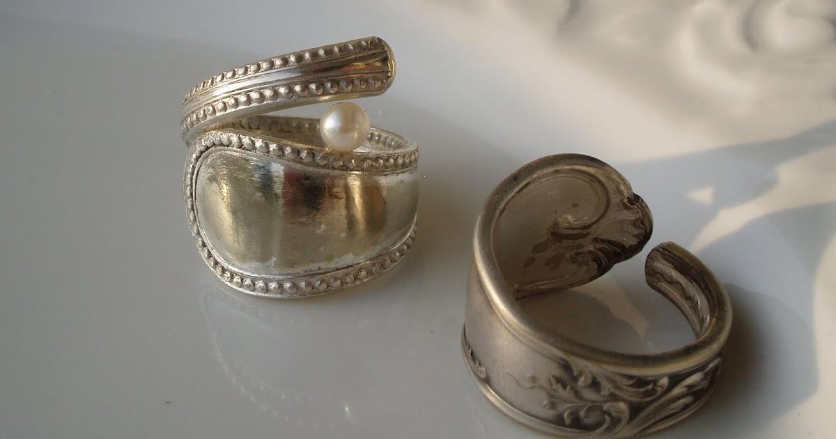 silvermoon ringe aus altem besteck. Black Bedroom Furniture Sets. Home Design Ideas