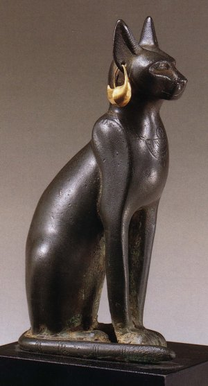 Ancient Egyptian sculpture honoring the cat