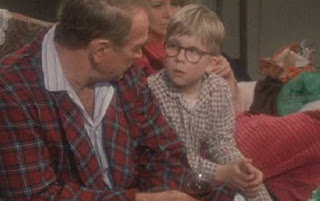 Darren mcgavin mr parker and peter billingsley ralphie in quot a