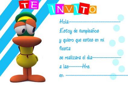 Pocoyó (Pato) | Tarjetas de cumpleaños para imprimirTarjetas de ...