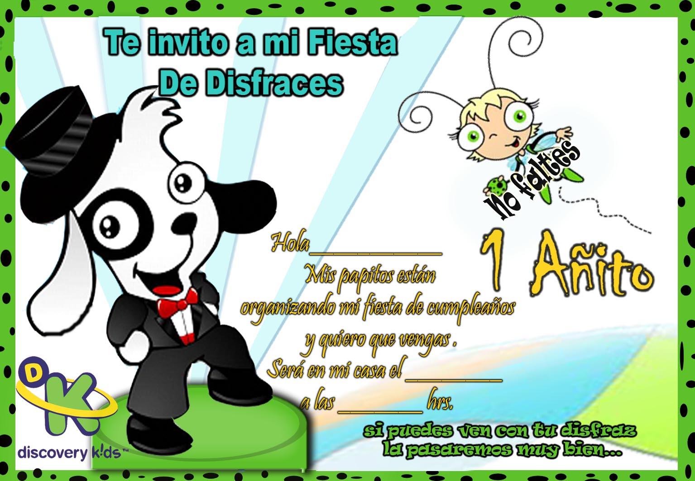 Tarjetas de invitación de doki para imprimir gratis - Imagui