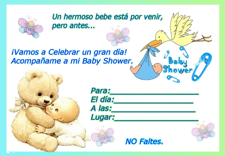 Tarjeta de Invitación a Baby Shower