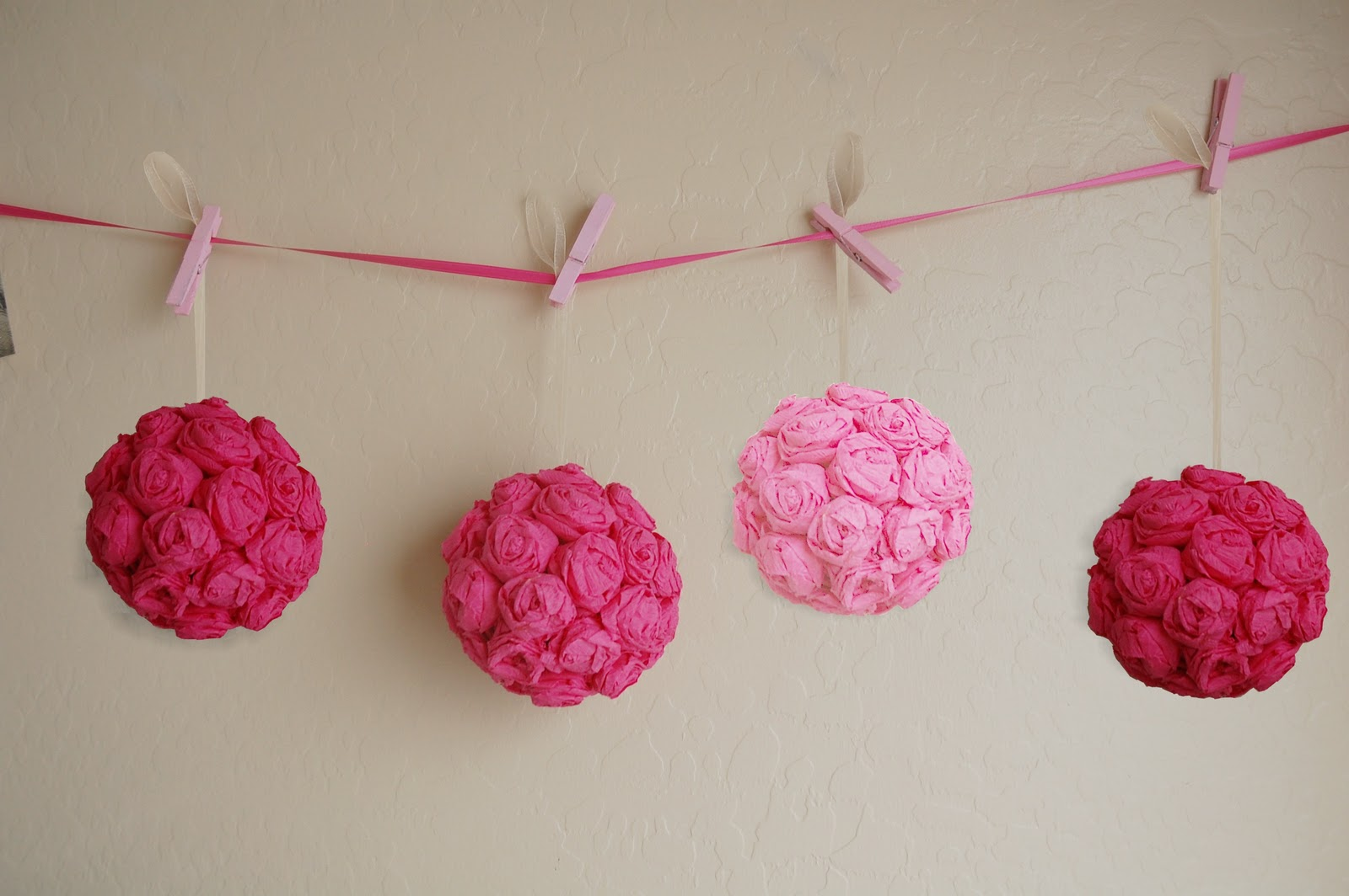 Awesome paper flower pomander ball pictures inspiration wedding how to crepe paper rose pomander ball and mightylinksfo Choice Image