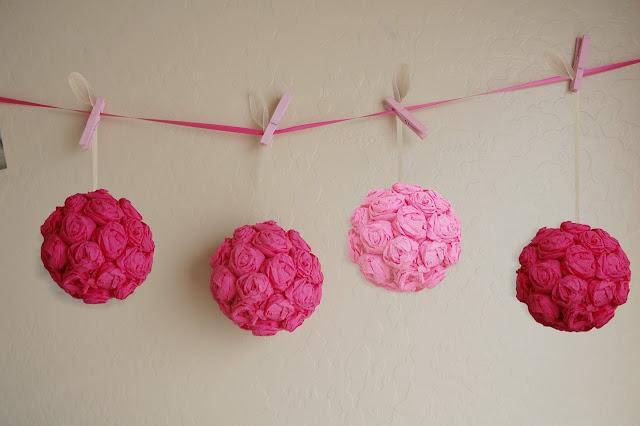 Ideias para decoração de festa pomanders as bolas de flores