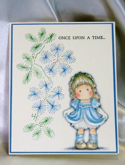 Stampelicious Stitching Card Pattern Princess Tilda