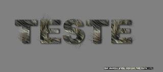letras peludinhas efeitos em fontes no photofiltre studio