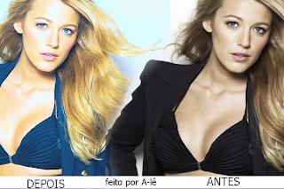 blue and blonde efeito em fotos de loira no PFS