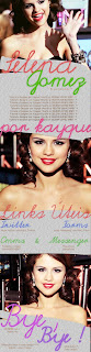 About Gomez banner para orkut selena gomez feito no PFS