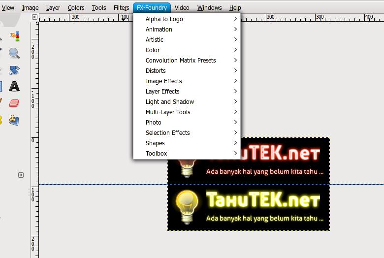 GIMP Plugin Registry berhasil di instal