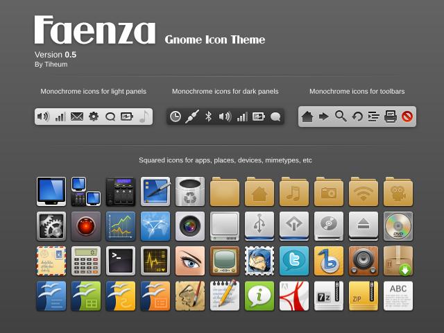 Tema ikon Faenza hadir di PPA