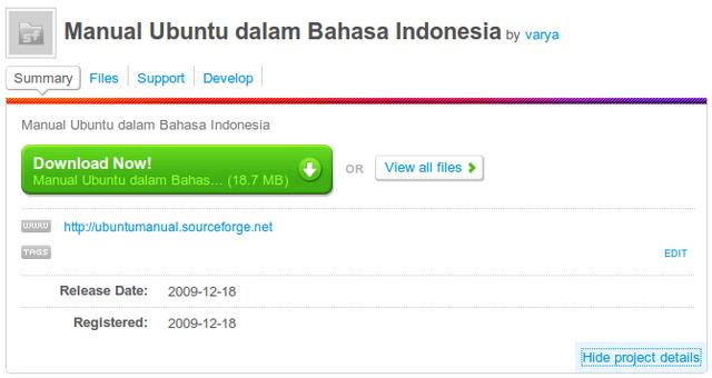 Panduan lengkap Ubuntu @Sourceforge.net