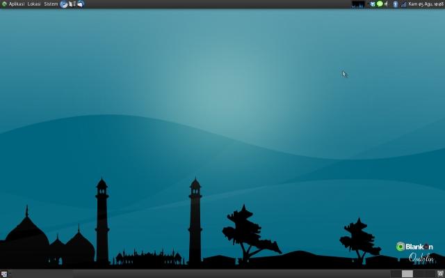 Instal tema desktop Sajadah di Ubuntu
