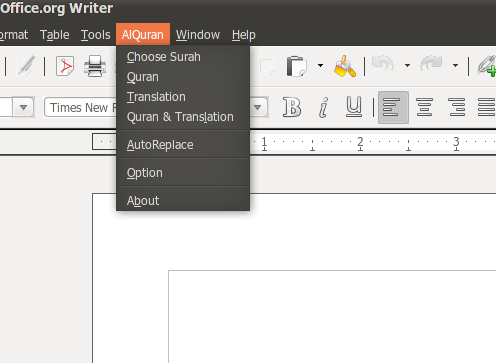 QiOO: Qur'an in OpenOffice