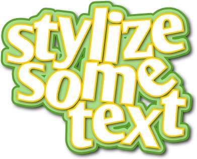Mendesain teks dengan berbagai gaya