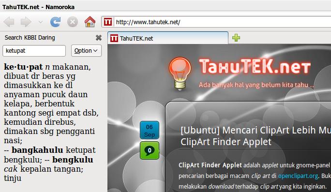 Ekstensi KBBI Daring untuk Firefox