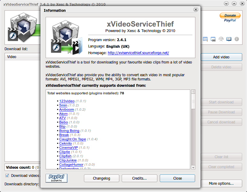 xVideoServiceThief di Ubuntu 10.04 Lucid Lynx