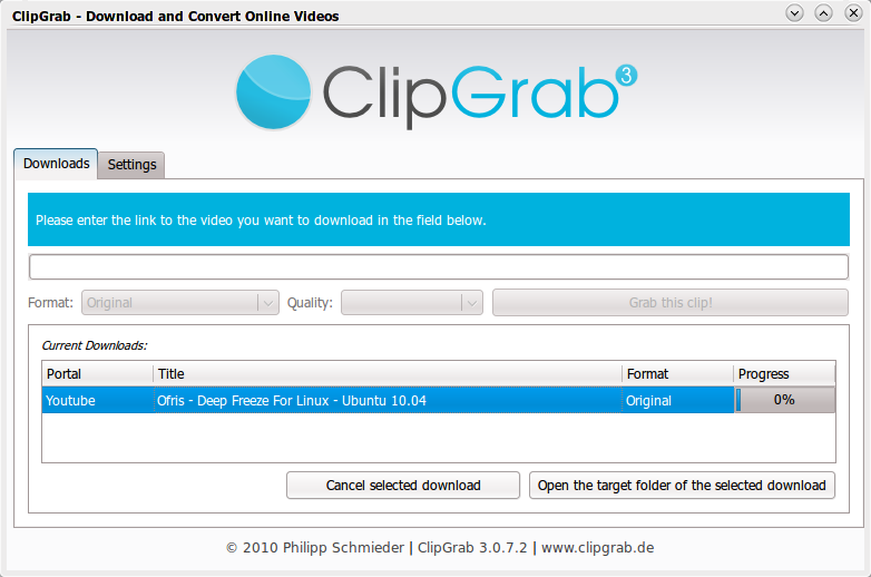ClipGrab: Download and Convert Online Videos