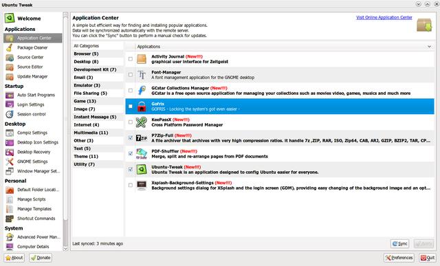 GOFRIS masuk di daftar aplikasi Ubuntu Tweak