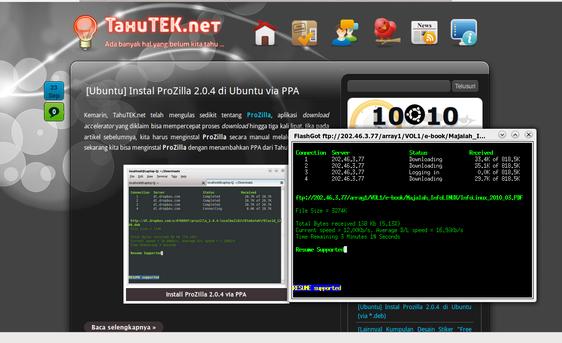 Integrasi ProZilla dengan Firefox