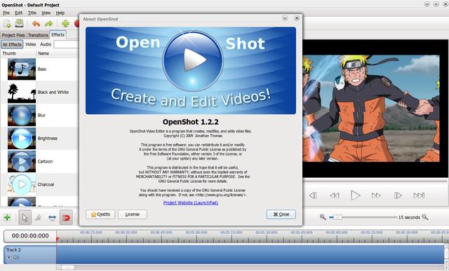 OpenShot 1.2.2 di Ubuntu 10.04 Lucid Lynx
