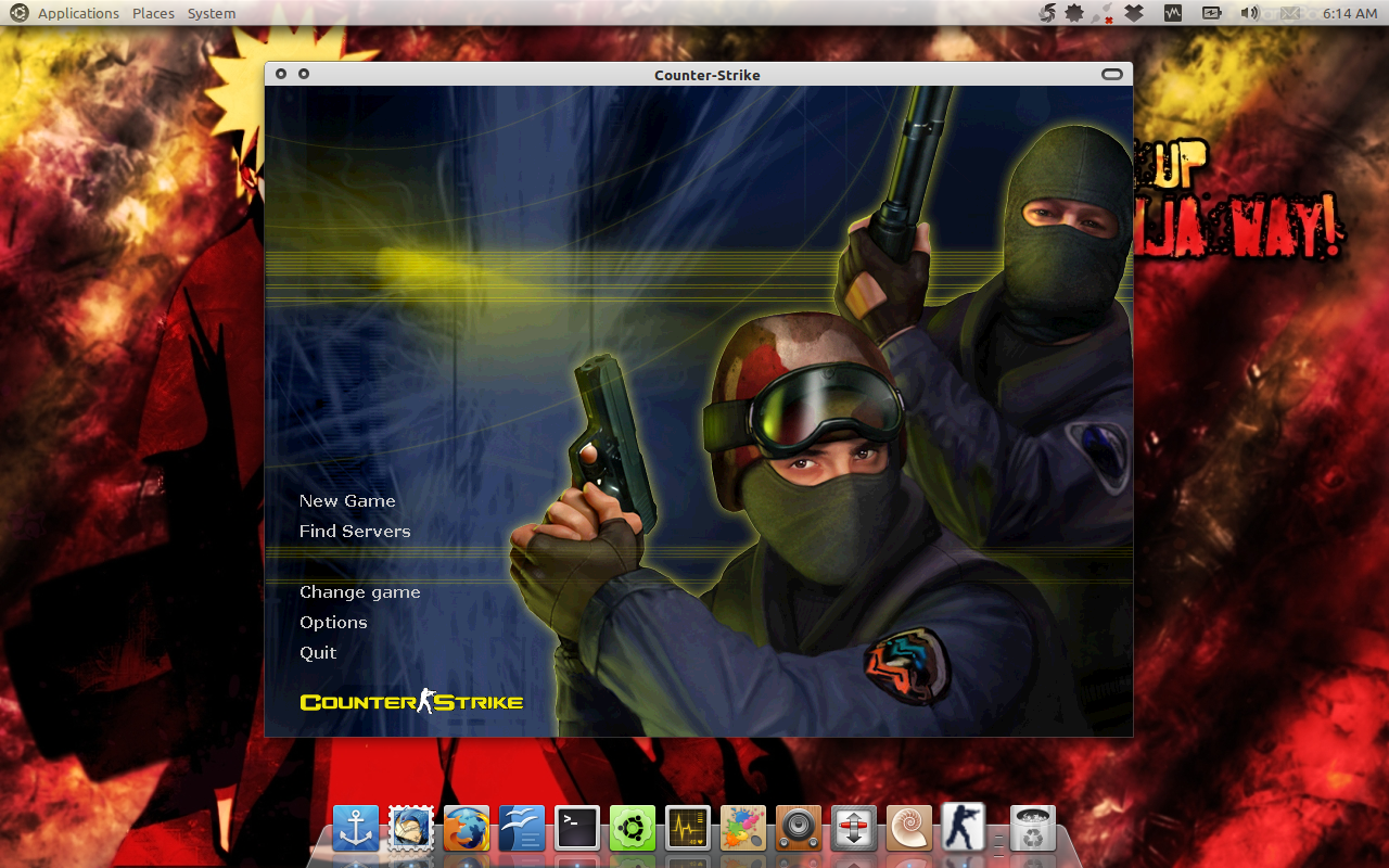 Counter Strike 1.6 di Ubuntu 10.10 Maverick Meerkat