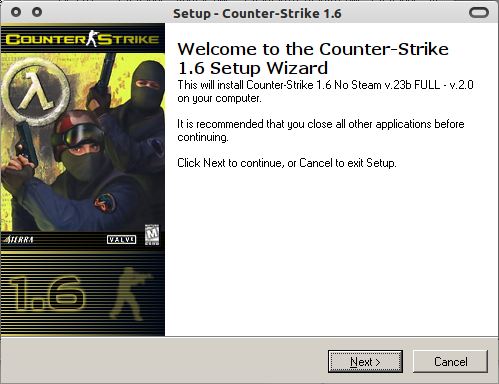 Counter Strike 1.6 siap diinstal