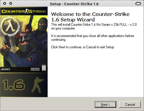 Counter Strike 1.6 siap diinstal