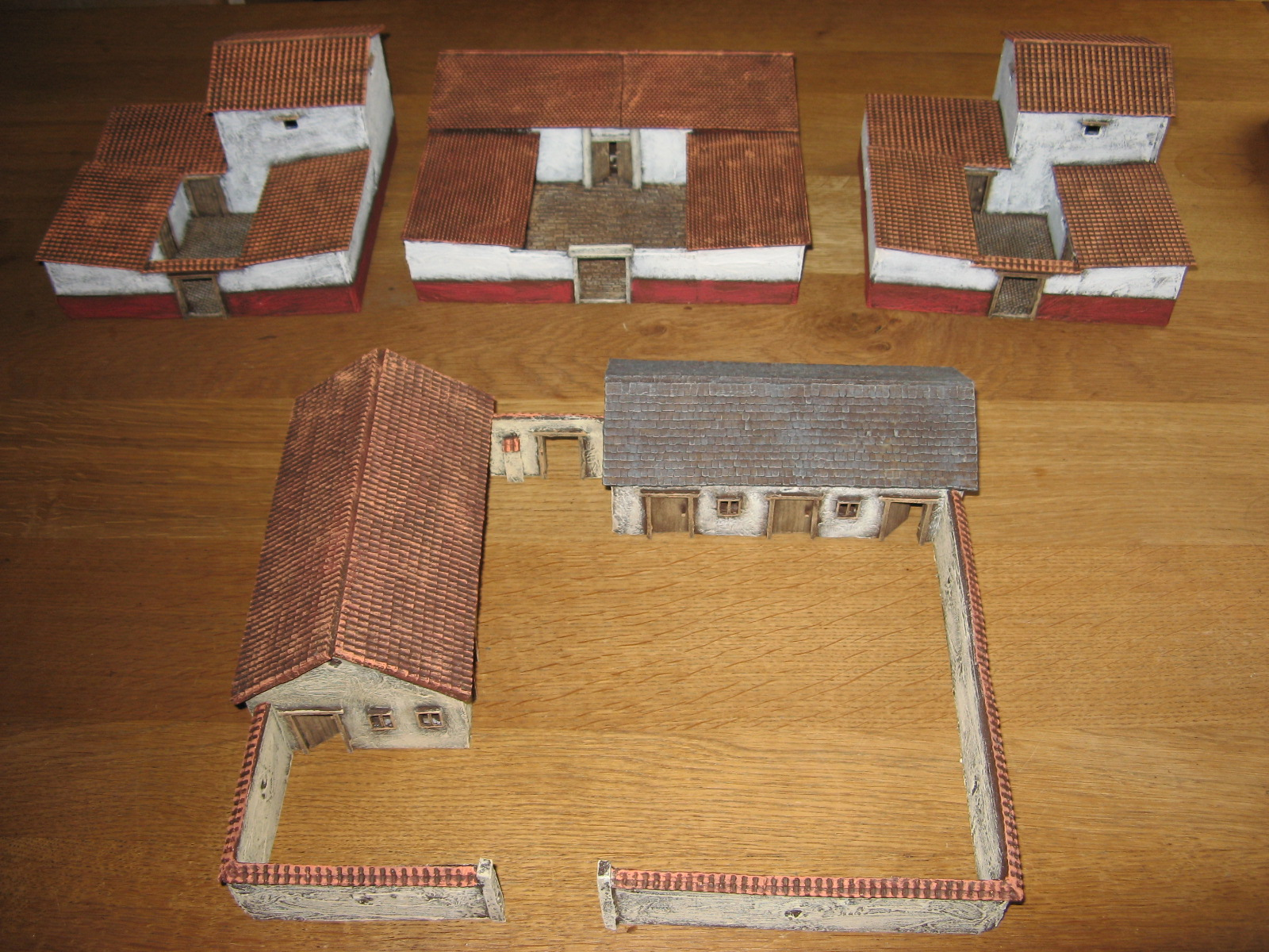 how to make a roman building model