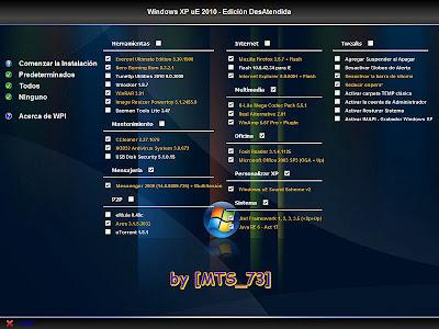 Windows XP Professional, el cual ya trae el Service Pack 3 y varios