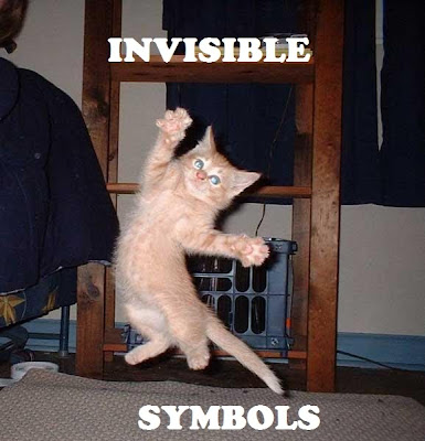 animal pictures with captions. invisible animals.