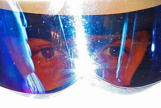 stigs eyes seen through helmet