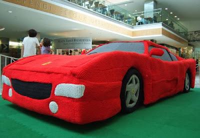 Strange Knitted Ferrari