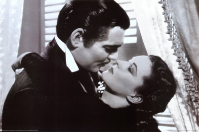 Gone With the Wind - Clark Gable, Vivien Leigh kiss