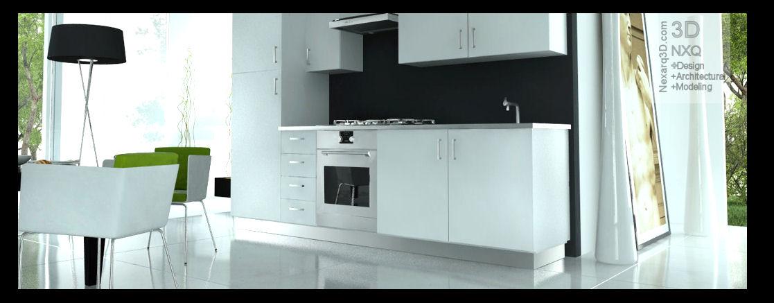render interior cocina