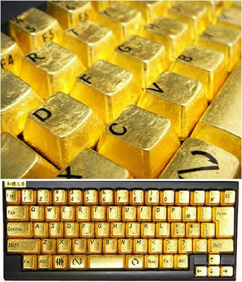 Gold Plated Keyboard