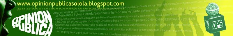 OPINION PUBLICA SOLOLA