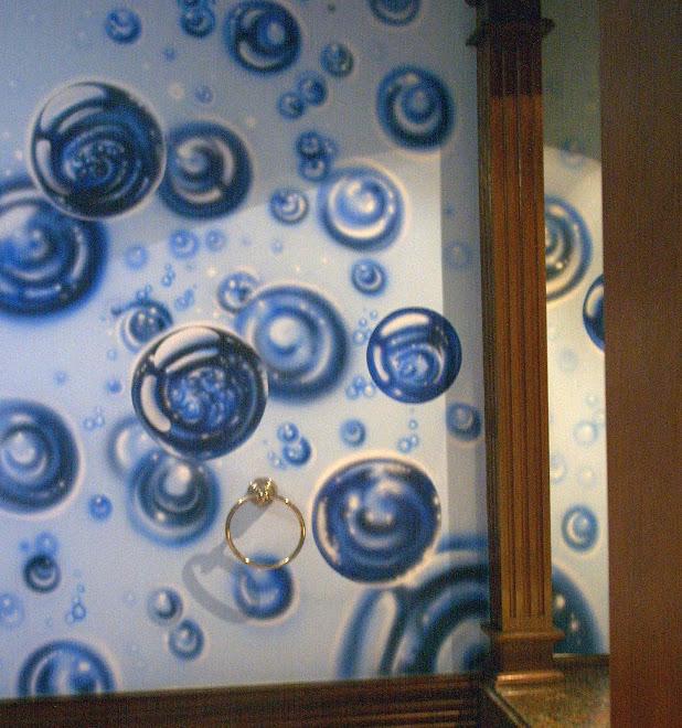 Decoracion de baño AEROGRAFO CON ACRILICO